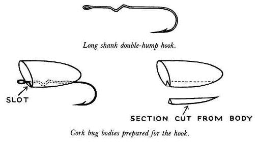 Hook Shank For Cork Spin Bugs