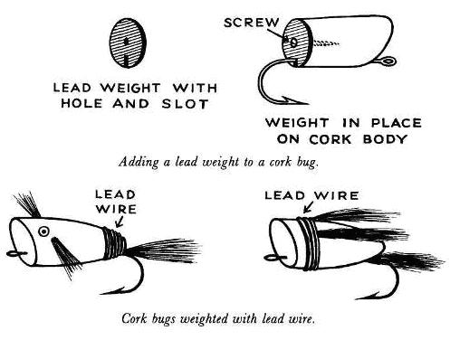 Lead Weight For Cork Spin Bugs