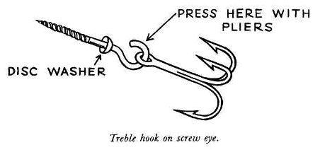 Treble Hook On Screw Eye